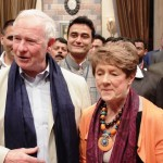 Canadian Governor David Johnston and his wife visits the sets of Tumhari Paakhi