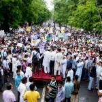 AMU students protest against Israeli invasion of Gaza