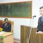 Dr Kozah delivers extension lecture on 'The Life and Work of Al Biruni' at AMU